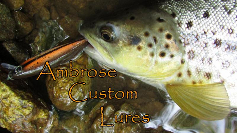 ambrose custom lures, brown trout, wild brown trout